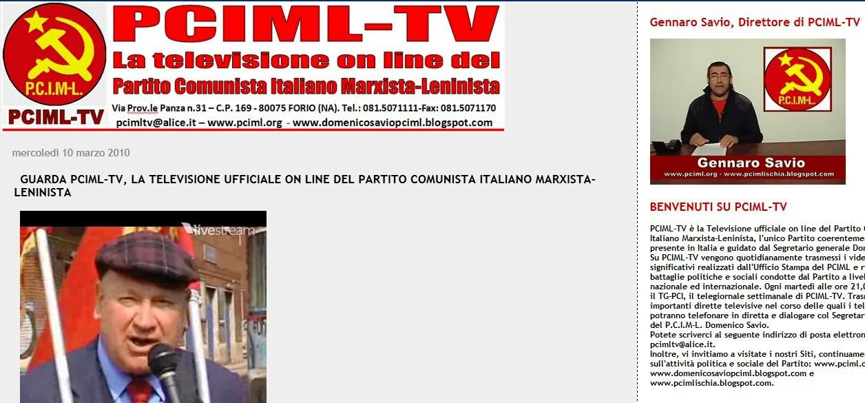 IL SITO WEB DI PCIML-TV